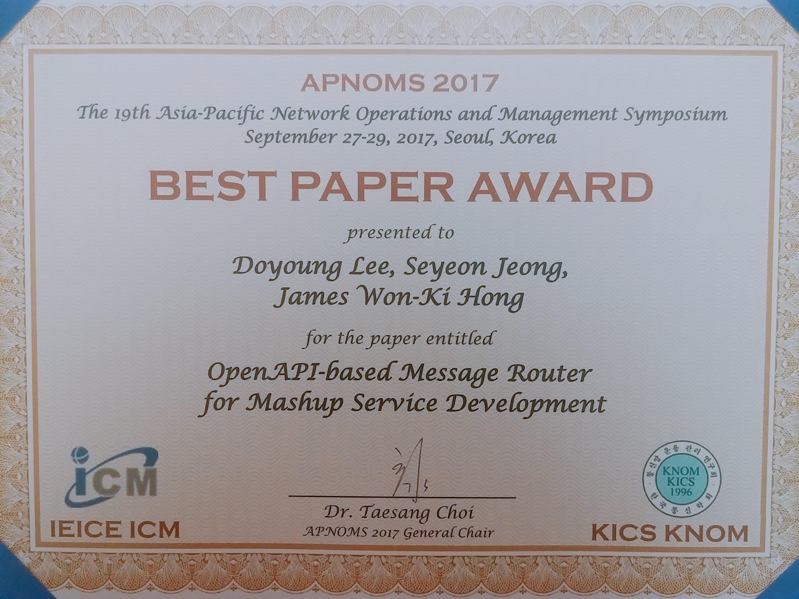 APNOMS2017 Best paper.jpg